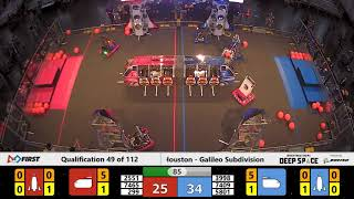 Qualification 49 - 2019 FIRST Championship - Houston - Galileo Subdivision