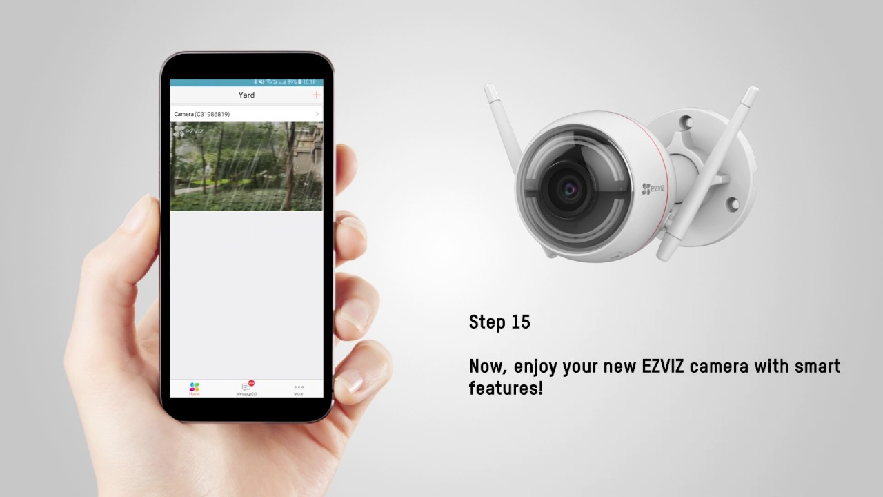 Ezviz by Hikvision Ezviz by Hikvision LC1, Floodlight, 1080P, PIR, Nachtzicht, WiFi IP Camera
