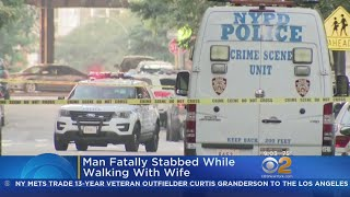 Man Fatally Stabbed While Walking With Wife