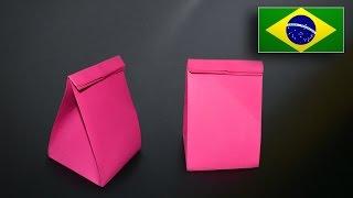 Origami: Sacolinha Para Presentes - Instruções Em Português PT-BR