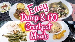 New! DUMP & GO CROCK POT RECIPES | HEALTHY CROCK POT MEALS | WHAT' FOR DINNER | HEALTHY DINNER IDEAS