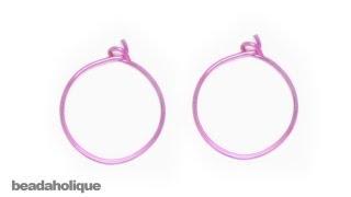 How To Make Wire Hoop Earrings