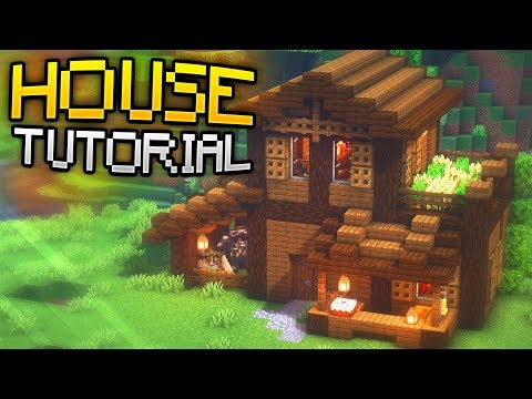 How To Build A Survival House Tutorial Rustic House Design Minecraft Map