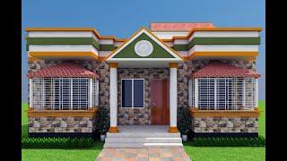 36' X 32' Small 3 Bedroom House Plan. ৩৬ X ৩২ ফিট জায়গায় তিন বেডরুমের একতলা বাড়ির ডিজাইন।#একতলা