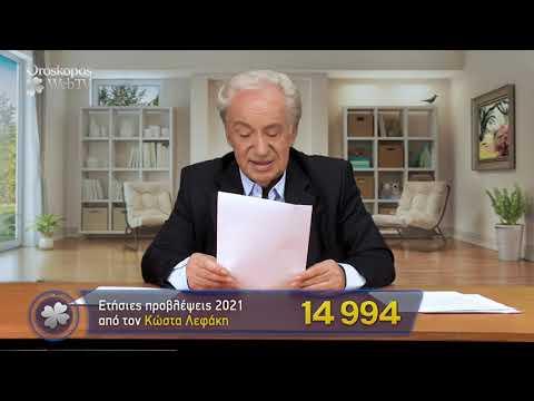 Καρκίνος 2021 Ετήσιες Προβλέψεις Κώστα Λεφάκη σε βίντεο
