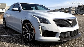 Experience: 2018 Cadillac CTS-V - Cold start, test drive, sound   Kholo.pk