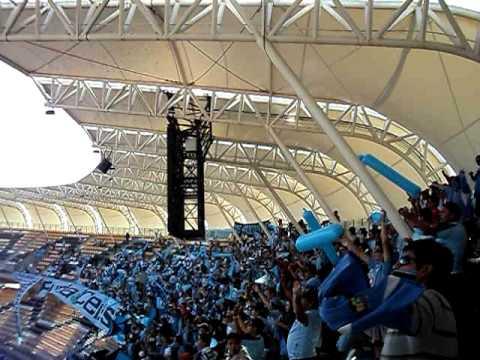 """""""vamos dragon queremos la copa final copa chile 2010"""" Barra: Furia Celeste • Club: Deportes Iquique"""