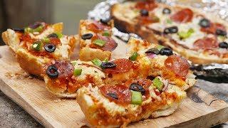 Grilled Pizza Bread   Delish