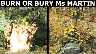 Burn Or Bury Ms. Martin - Alternative Choices - The Walking Dead Final Season 4 Episode 2