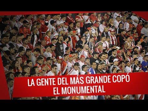 """""""River vs Atlético de Tucumán - La gente del más grande copó el monumental"""" Barra: Los Borrachos del Tablón • Club: River Plate"""