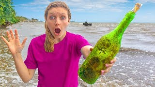 Mystery Evidence FOUND at Abandoned Beach Scavenger Hunt (Island Adventure Treasure Chest Searching)