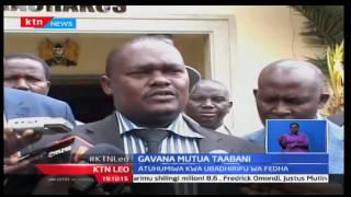 KTN Leo: Gavana Alfred Mutua yuko mataabani huku mawakilishi wakifikisha mswada wa kumgatua,16/11/16