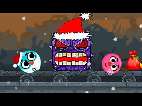 LOVE BALLS SANTA CLAUS & BILBERRY BOSS in 'Red Ball 4 Christmas' EPISODE 3 PERFECT 'BOX FACTORY'