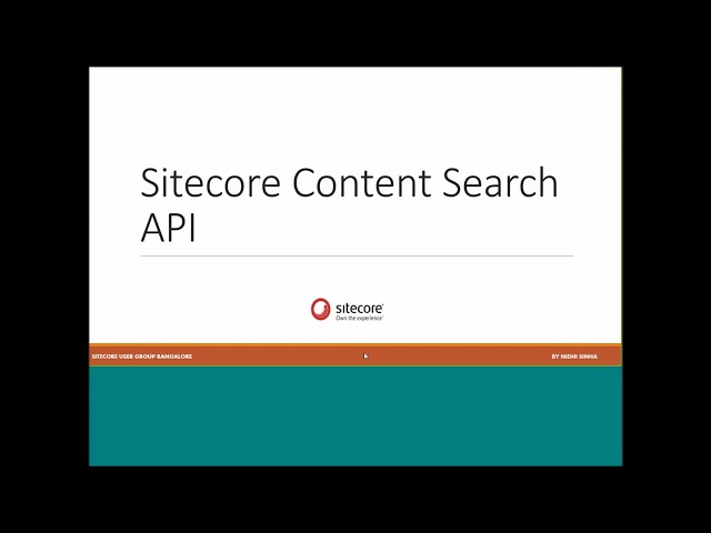 Content Search API in Sitecore 8.1 using Solr