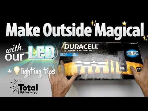 Make Outside Magical with our LED Duracell Pathway & Spot Light Kit + lighting tips!