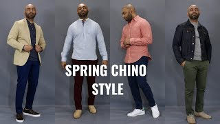 How To Wear Chinos Spring 2019/4 Chino Outfits