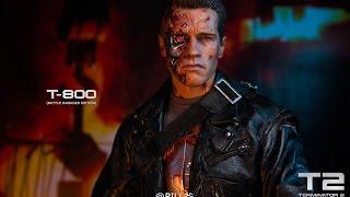 ENTERBAY 1:4 HD Terminator 2 T-800 ( Battle Damaged )戰損與普通版比較 開箱