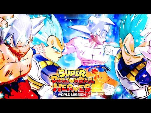 UI Goku x SSBE Vegeta GODHOOD! Super Dragon Ball Heroes World Mission Gameplay