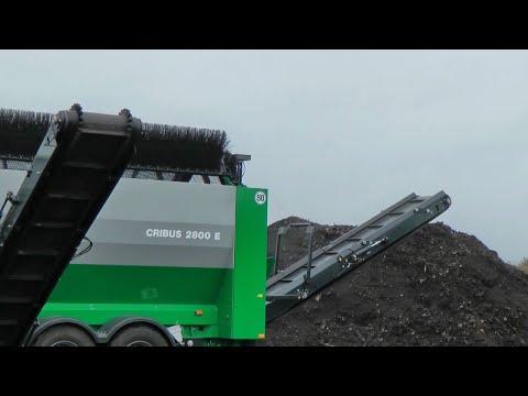 Komptech Cribus 2800 Trommel Screen Processing Compost