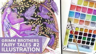 Grimm Brothers Original Fairy Tales   The Twelve Brothers - Illustration
