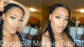 Everyday Natural Drugstore Makeup Tutorial || For Black Women || Beginner Friendly|| Inexpensive
