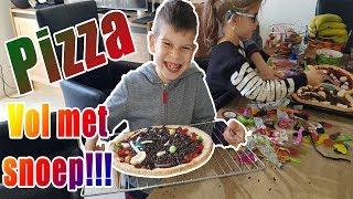 PIZZA MET SNOEP MAKEN   KOETKITCHEN MET PAPA!!!   KOETLIFE VLOG
