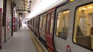preview picture of video 'London Underground S Stock 21069 and 21070 departing Harrow on the Hill'