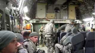 preview picture of video 'US ARMY Base C-17 Taking off from Bagram Afghanistan going to Kuwait'