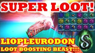 SUPER LOOT   LIOPLEURODON LOOT BOOSTING BEAST   THE AWESOME LOOT BOOST ON  CRATES AND BEACONS