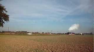 preview picture of video 'Anfahrt 01 509 und 35 1019 mit Sonderzug von Cottbus über Görlitz nach Polen bei Horka'