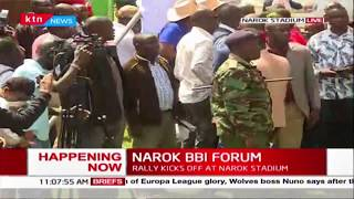 Babu Owino arrives at Narok stadium for NAROK BBI FORUM