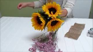 How To Make A Sunflower Bridesmaid Bouquet