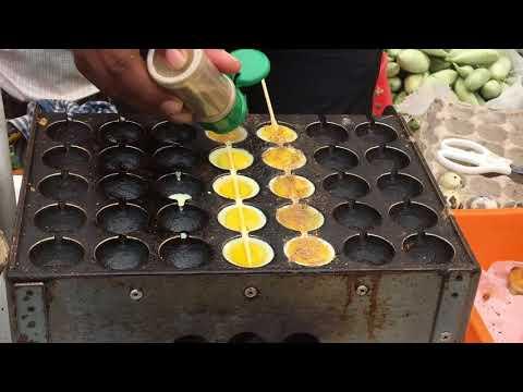 Innovative street food vendor cooking Quail Eggs in a Different Way - Creative Street Food Vendor