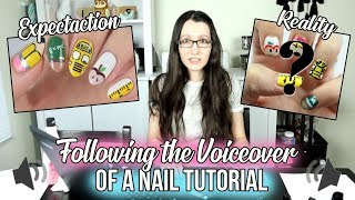 I Tried Following ONLY The VOICEOVER Of A Cutepolish Nail Art Tutorial