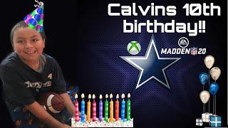 Dallas Cowboy Birthday Party// Turning 10!! // Calvins Birthday Vlog!!
