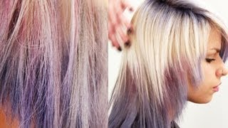 Hair Chalking How To | TONI&GUY Stylist Shows Hair Chalking Technique