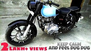 New Royal Enfield Classic 350 2017 Redditch Blue BS4 Loud Exhaust Silencer