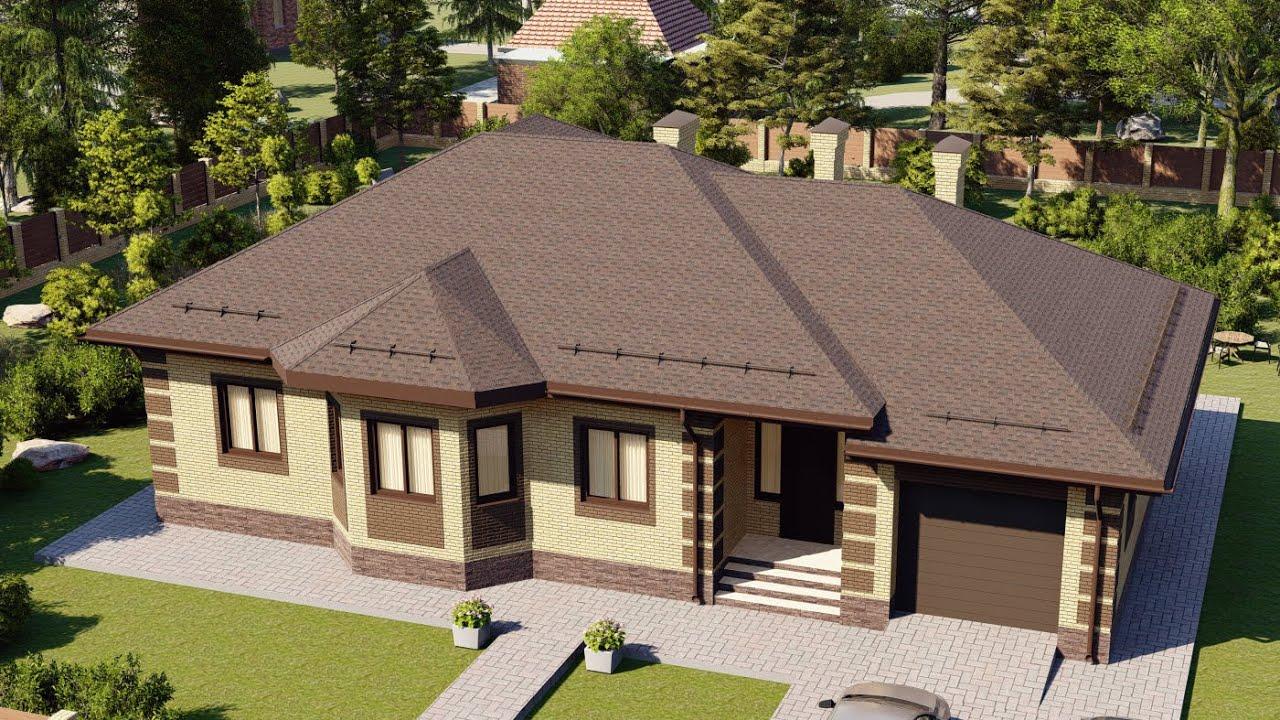 Проект дома 169-D, Площадь дома: 169 м2, Размер дома:  19,4x15,4 м