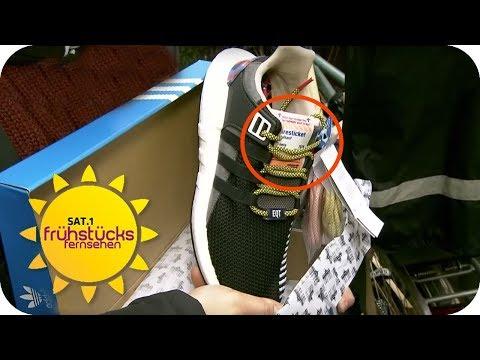 ADIDAS SNEAKER und BAHNTICKET in einem? - Der Kampf um die Schuhe | SAT.1 Frühstücksfernsehen | TV