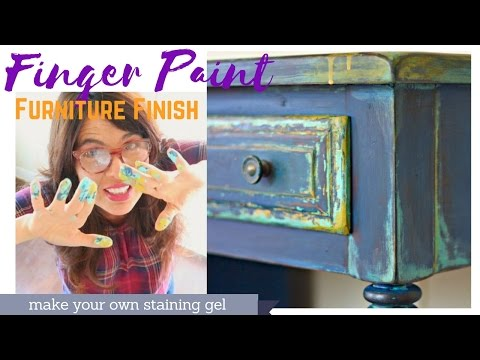 DIY Chippy Paint Finish with your fingers.