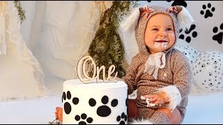 Posie's 1st Birthday Official Cake Smash  Video!!! (SO CUTE)