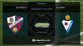 Calentamiento SD Huesca vs SD Eibar