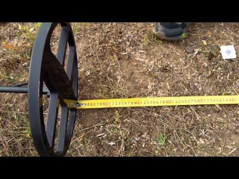 Воздушный тест металлодетектора Whites MOD VDI