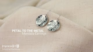 Hand Stamped Mandala Earring Tutorial By ImpressArt