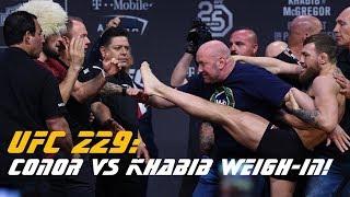 UFC 229: Conor McGregor vs Khabib Nurmagomedov weigh in