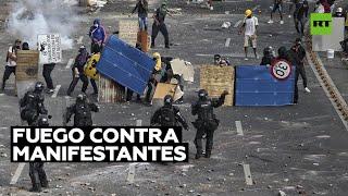 POLICIAS DE CIVIL ABREN FUEGO CONTRA EL PUEBLO COLOMBIANO