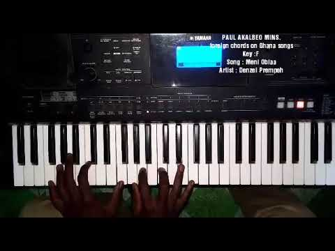 Foreign piano chords on Ghana/Africa gospel songs(Tutorial on Meni Obiaa by Denzel Prempeh)