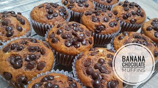 How To Make Banana Muffins | Banana Chocolate Cupcakes | Happy Ribbon PH | VLOG #42
