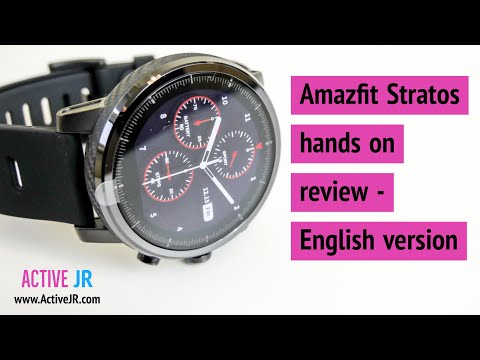 Amazfit stratos Smartwatch hands on review, unboxing & setup - garmin alternative? - English version
