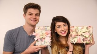 GIFT WRAPPING: CHALLENGE JIM & ZOELLA